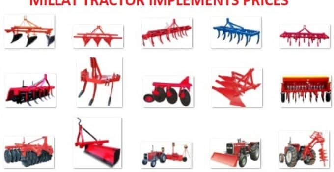millat tractors implements prices in pakistan